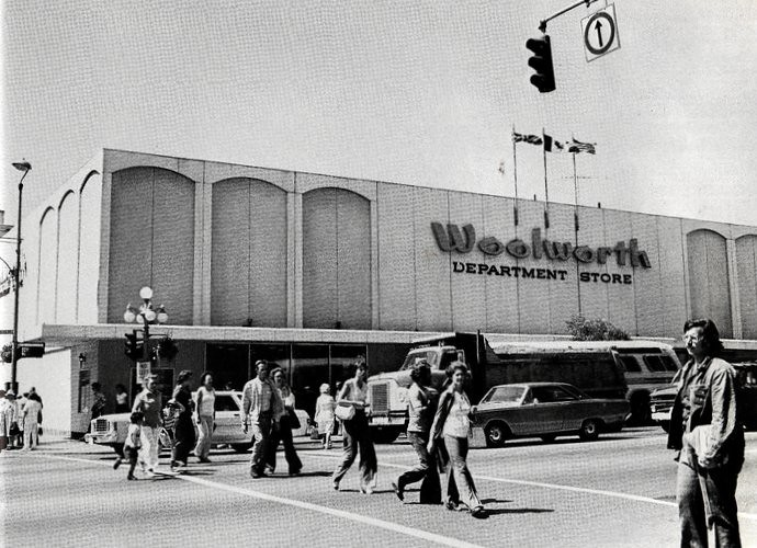 Victoria Woolworth Store c1977  The NW corner of