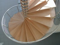 Large spiral staircase with beech treads | Flickr - Photo ...