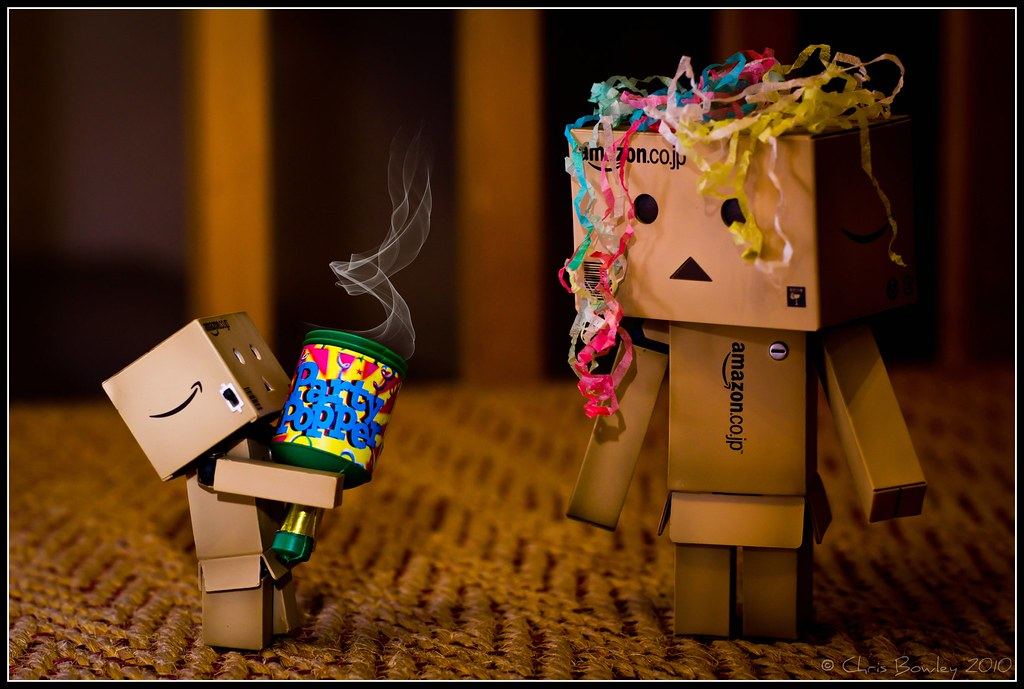 Danbo With The Party Popper Merry Christmas Flickr