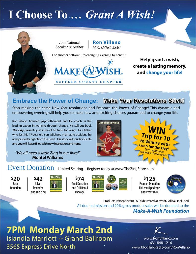 Custom Flyer Design For The Make A Wish Foundation Flickr