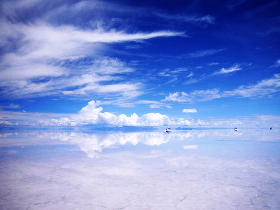 Salar de Uyuni  El efecto espejo del Salar de Uyuni es