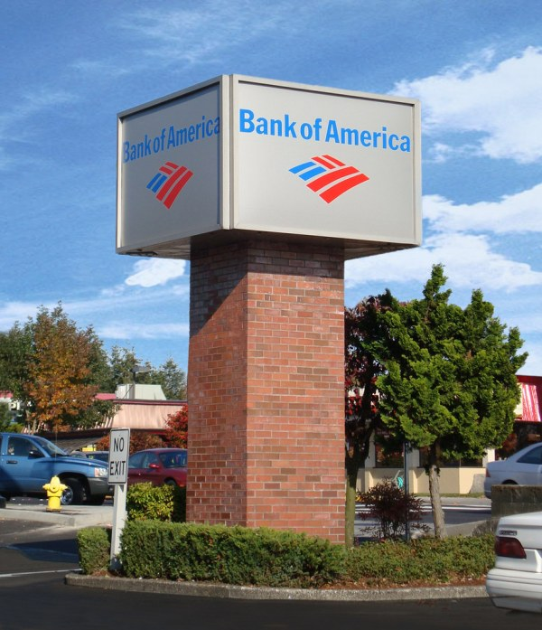 Bank Pole Sign Exterior Signage Logo Brandin