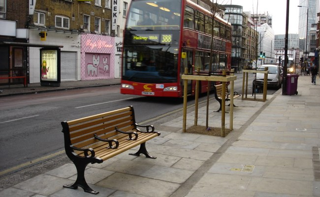 New Street Furniture Bethnal Green Road Tower Hamlets