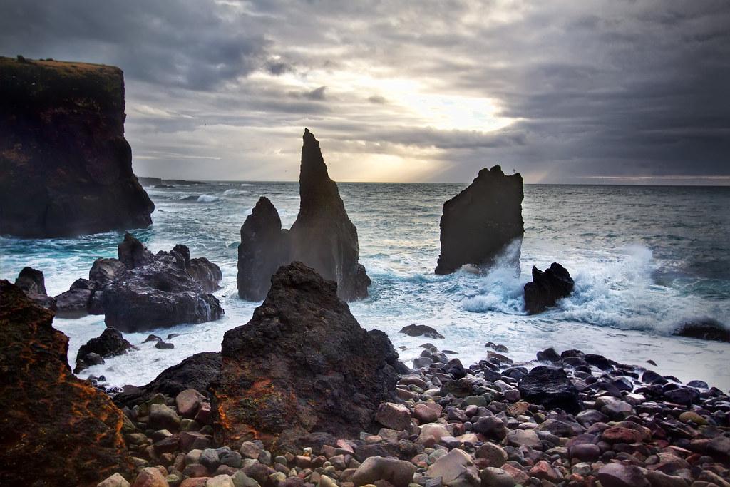 Gates of Hell Iceland Reykjanesta Coastal Rock Format