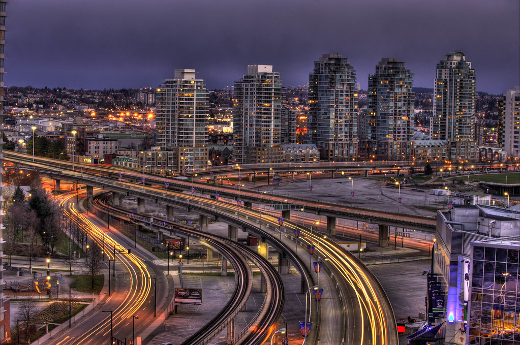 Georgia Viaduct Vancouver Bc 10 Sec Exposure From Our