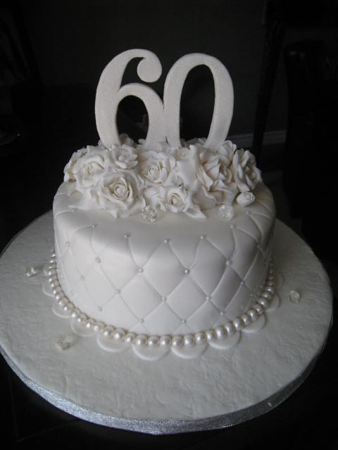 60th Anniversary cake  8 Vanilla cake wraspberry buttercr  Flickr