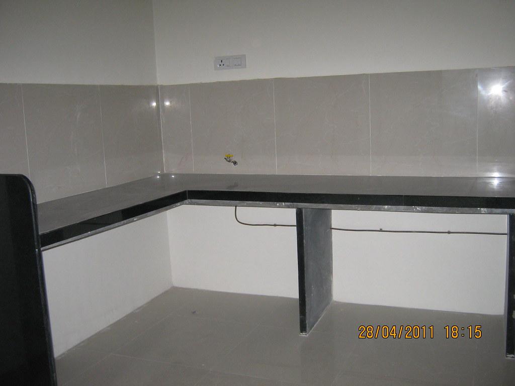 kitchen design jobs modern tile l shaped platform with jet black granite top and p ...