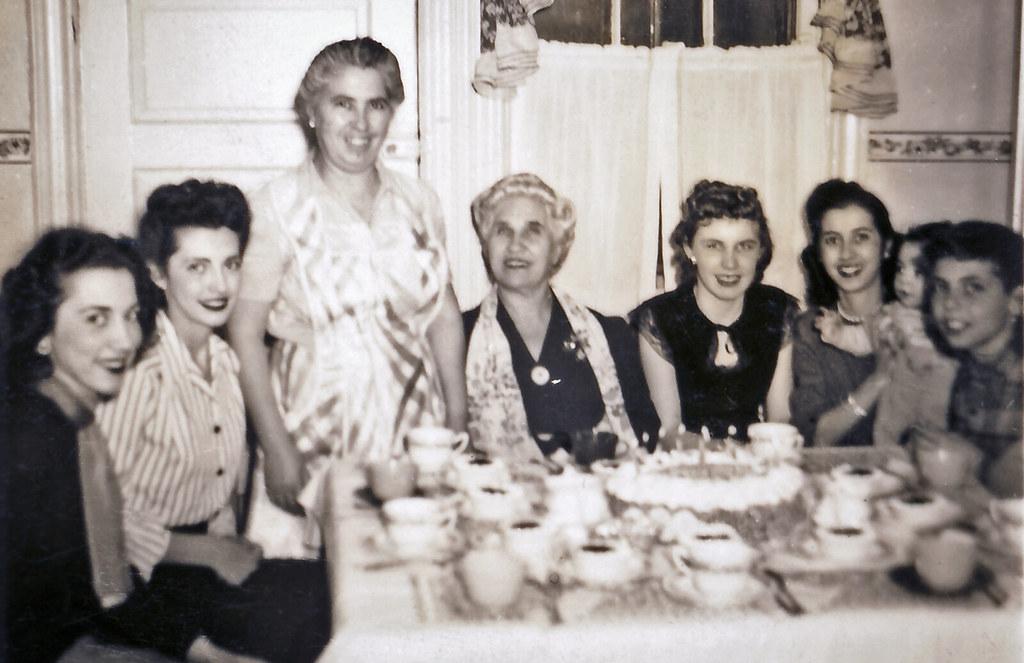 Vintage Birthday Party around 1949 in the Bronx