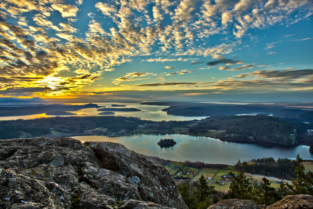 Mt Erie  Southward view from Mt Erie near Anacortes WA