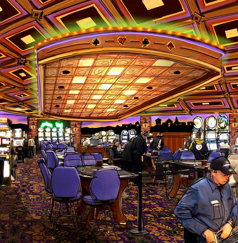 Interior Casino Design  Casino Interior Sketch  Conceptu