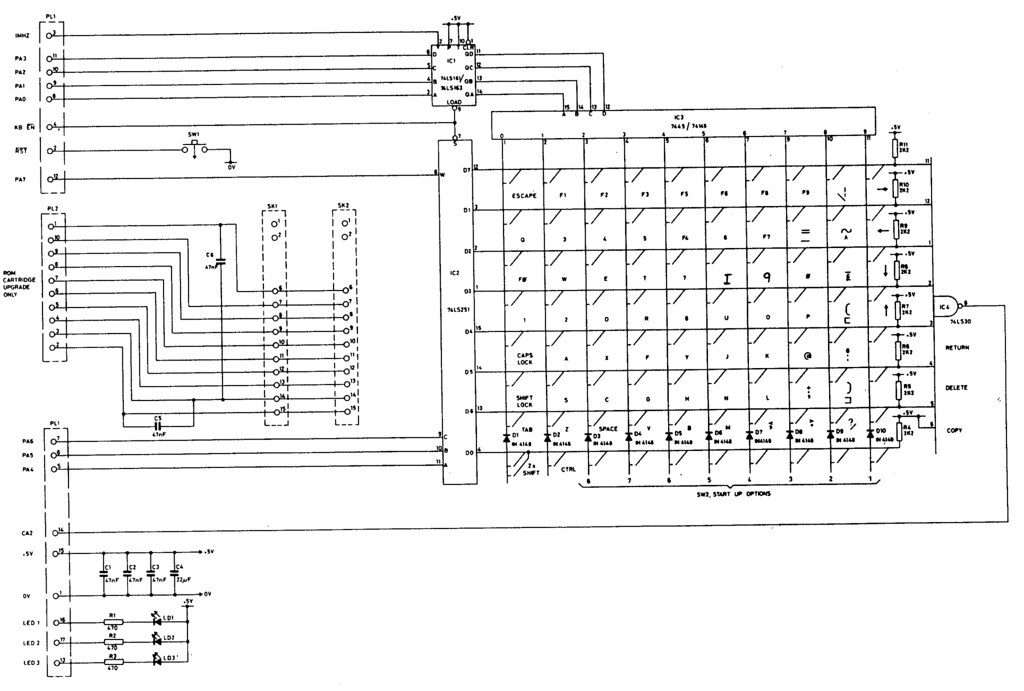 BBC Model B Keyboard Circuit This Is The Circuit Diagram F Flickr