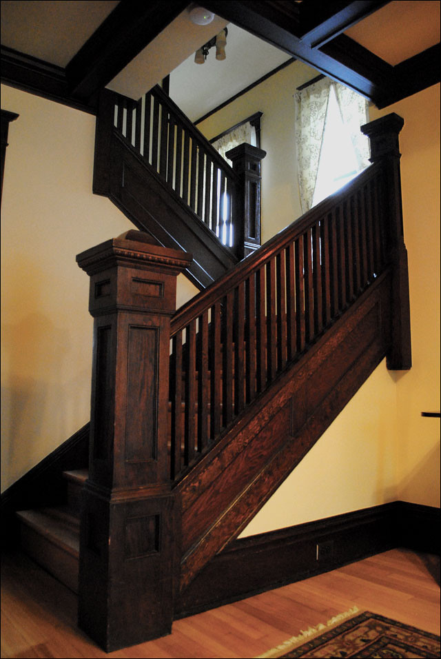 1911 Craftsman Staircase  From the Antique Home Style