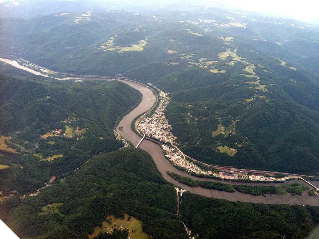 Hinton WV  As seen from nine thousand feet  Exogenous