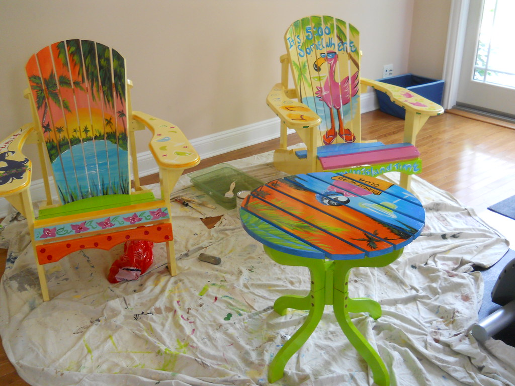 ideas for painting adirondack chairs office chair mat 46 x 60 margaritaville hand painted summer fun