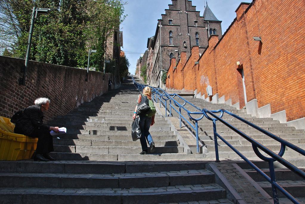 L Escalier De La Montagne De Bueren Li 232 Ge Cette Rue En