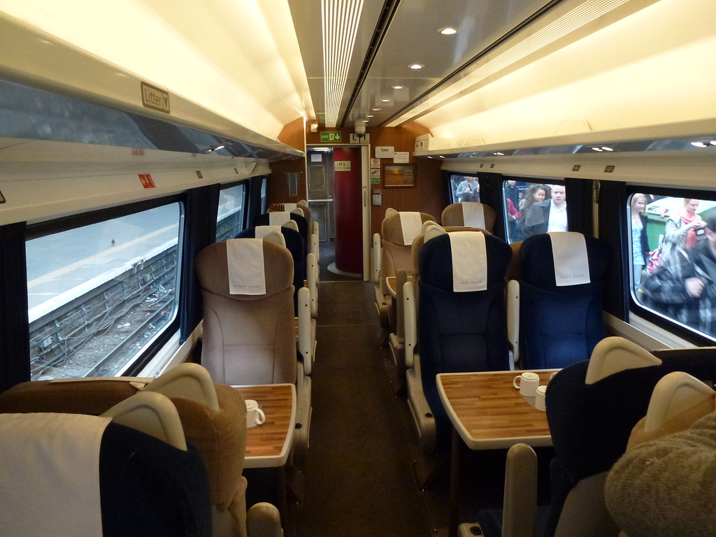 First Class East Coast Train from London Kings Cross to L