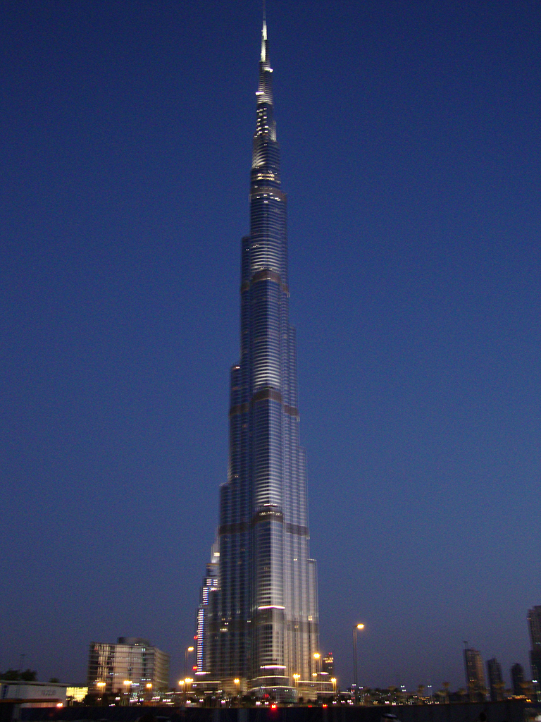 Burj Khalifa at dusk again  The Burj Khalifa as night