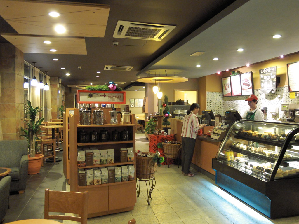 Starbucks Interior  It was unusually quiet on a Sunday