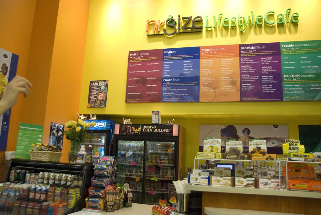 NRGize1  NRGize health food  juice bar inside an LA