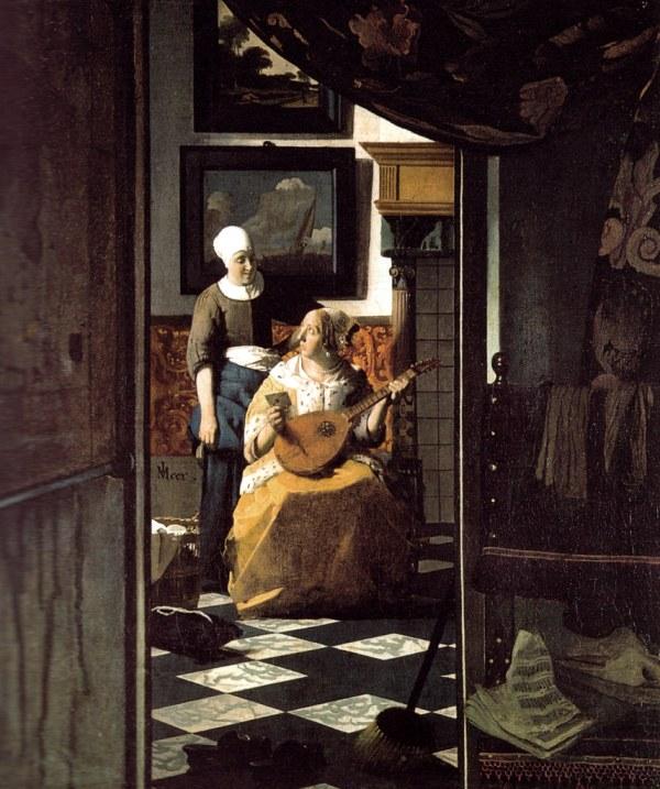 Johannes Vermeer - Love Letter Rijksmuseum Amsterdam