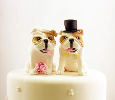 Bulldog Wedding Cake Toppers Custom Bulldog Cake Topper