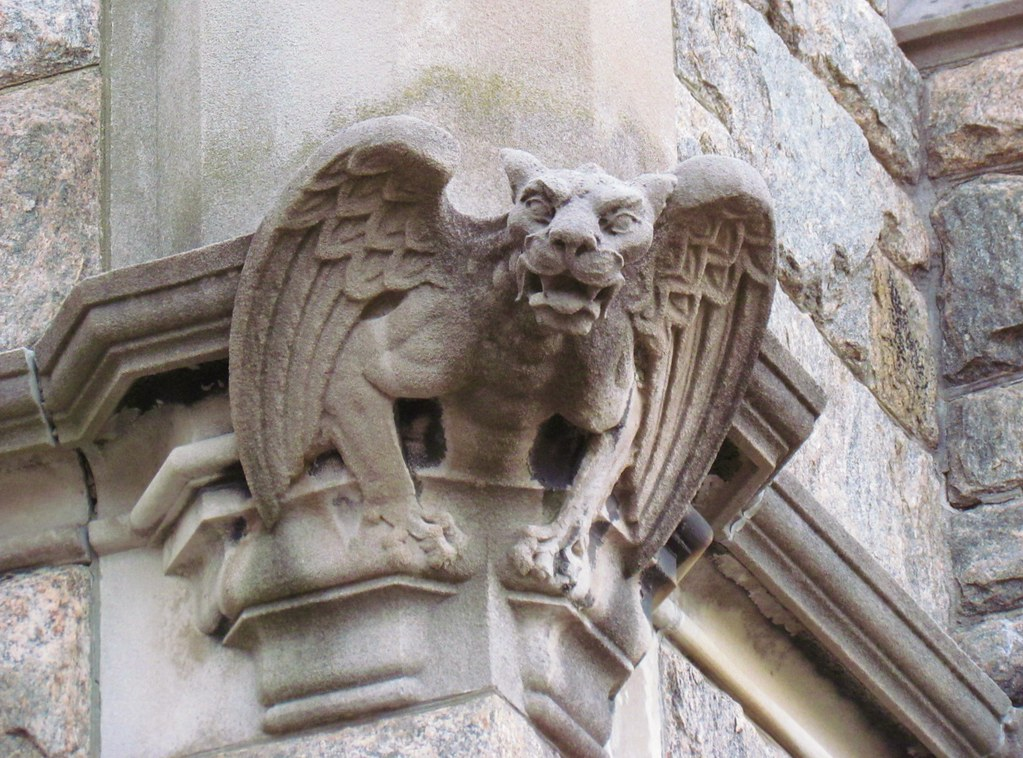Gargoyle on corner of Unitartian Church  This Gargoyle is