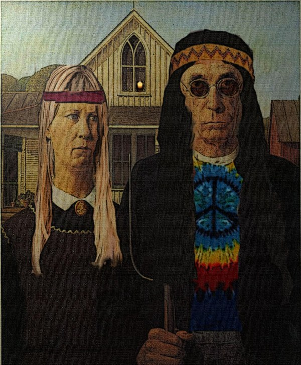 American Gothic Hippies