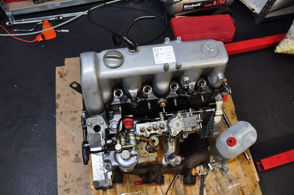 4 Wire Alternator Wiring Diagram Rebuilding A Mercedes Om616 Engine Almost Finished Flickr