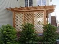 Backyard Pergolas & Patios - Lattice Sreens for Privacy ...