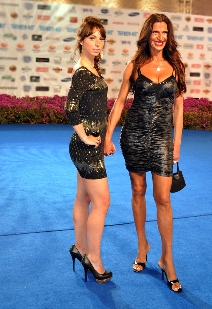 Telehit 2010  Odalys Ramirez and Alejandra Bogue on blue ca  Flickr