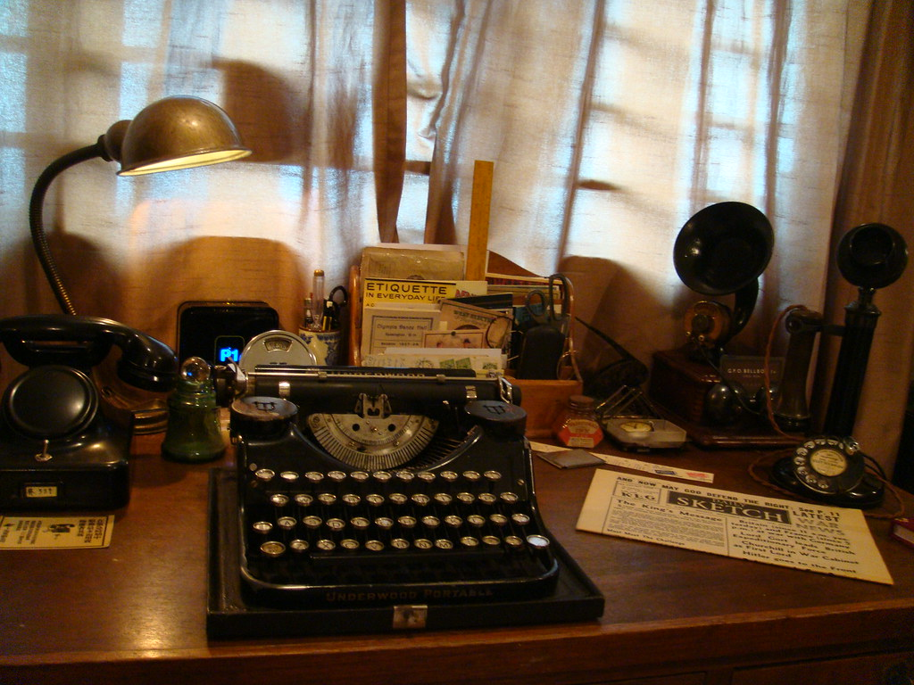 A typical 1920s  30s Writing Desk  This is where I work