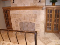 Travertine tile fireplace | Flickr - Photo Sharing!
