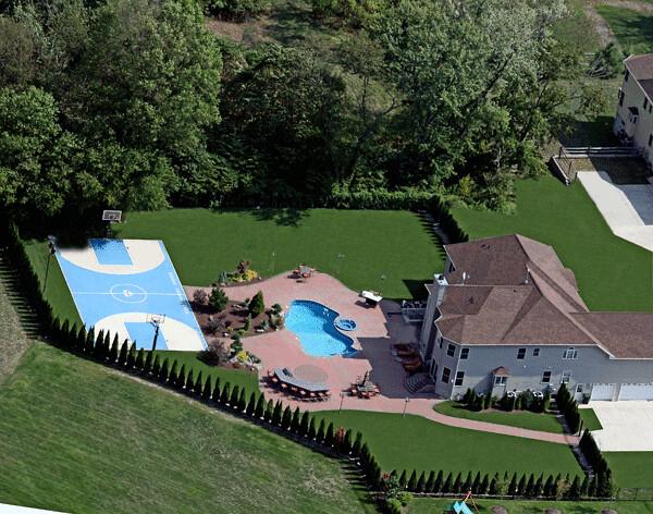 Luxury pool design basketball court backyard patio  Flickr