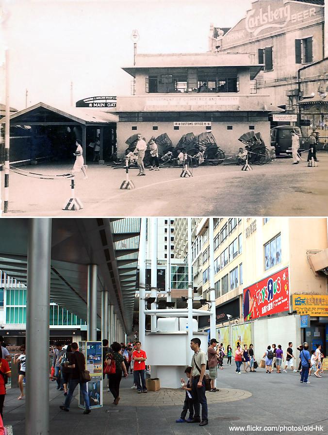 尖沙咀 - 九龍倉入口 c.1940's   [ 新圖攝於 2011 ]   HK Man (香港在消失ing)   Flickr