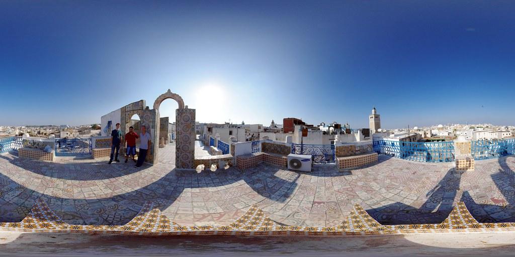 Medina Rooftop Tunis  Equirectangular panorama built from   Flickr