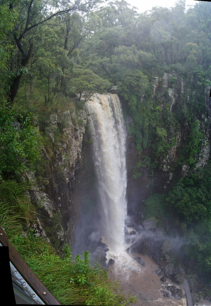 Queen Mary Falls at flooding  Main Range National Park