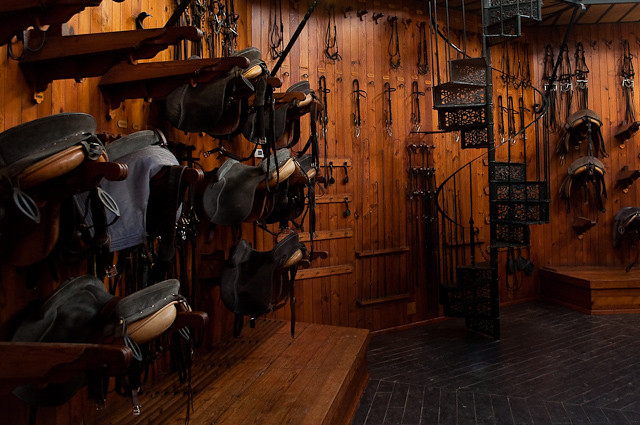The saddle room Royal Andalucan School of Equestrian Art