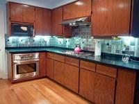 Glass Accent Tile Backsplash   Kitchen backsplash with ...