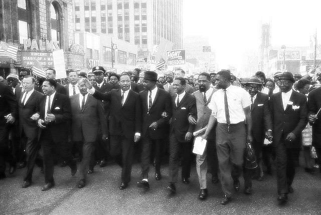 Martin Luther King Jr Walk To Freedom Detroit Michigan 1