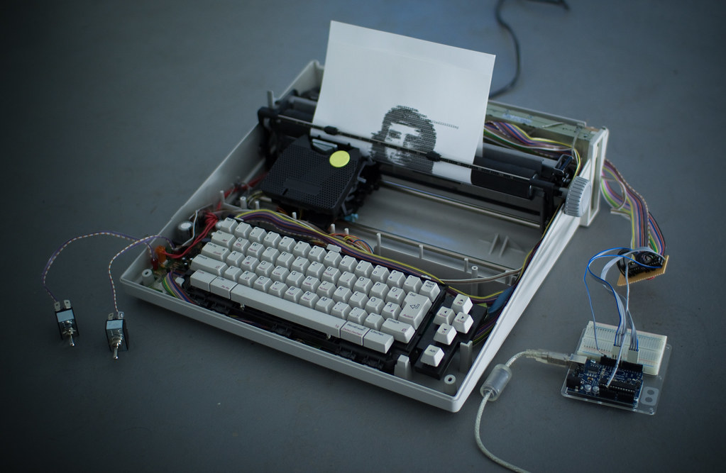 ArduinoControlled Typewriter  Using two 4051 multiplexer I  Flickr