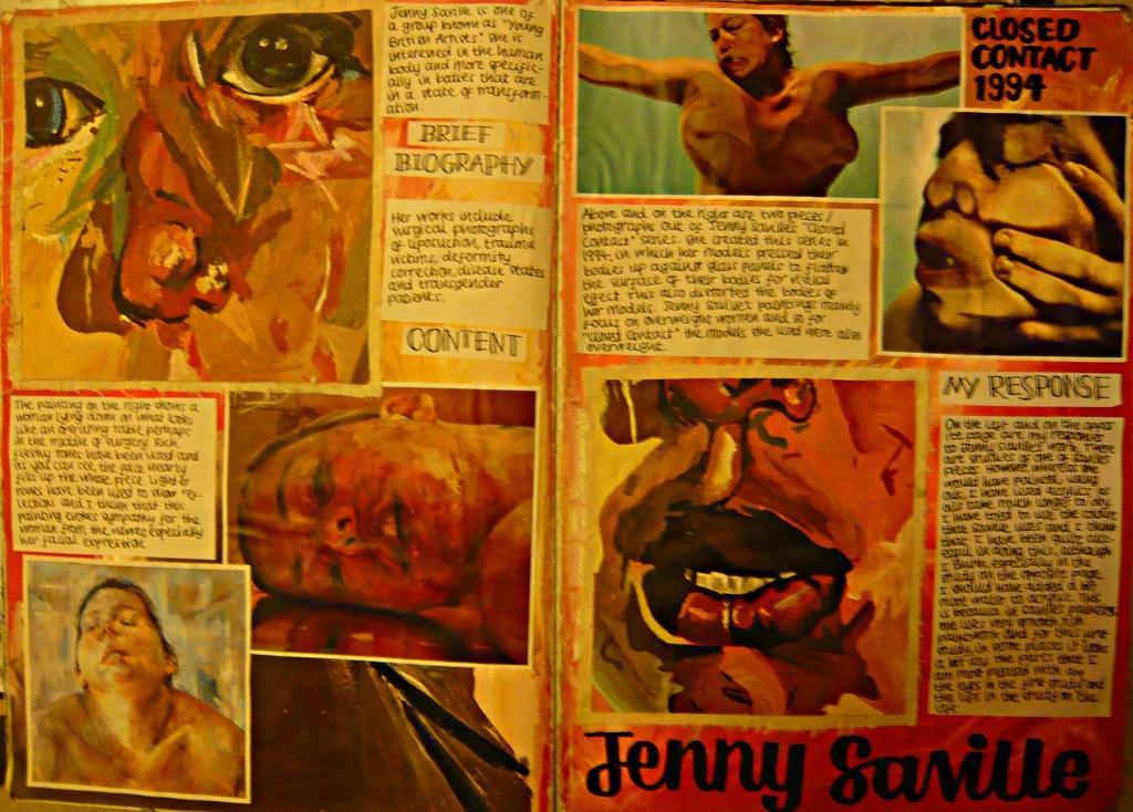 Jenny Saville Research  Jenny Saville was a big