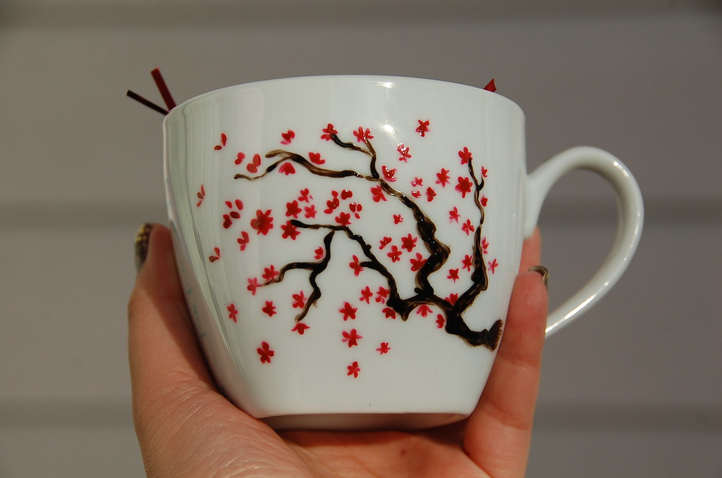 Cherry Blossom Mug  I painted these for the Lunar New