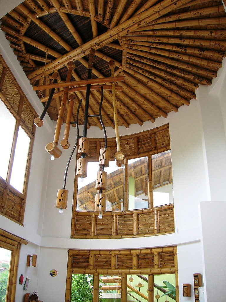 Interiores Zuarq Lamparas elaboradas con guadua en sus mu