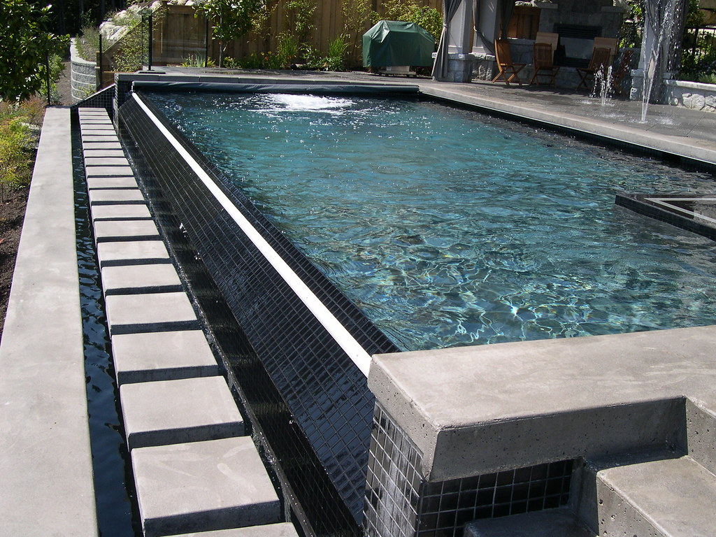 Infinity Edge Pool With Coverstar Automatic Pool And Spa C
