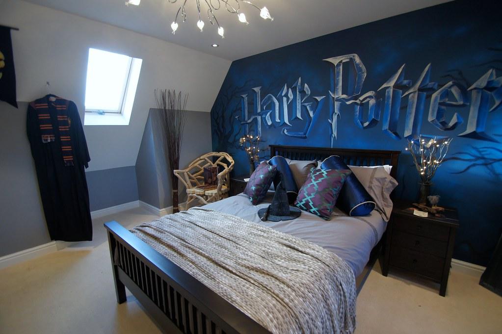 Harry Potter mural room  Childrens mural room based on