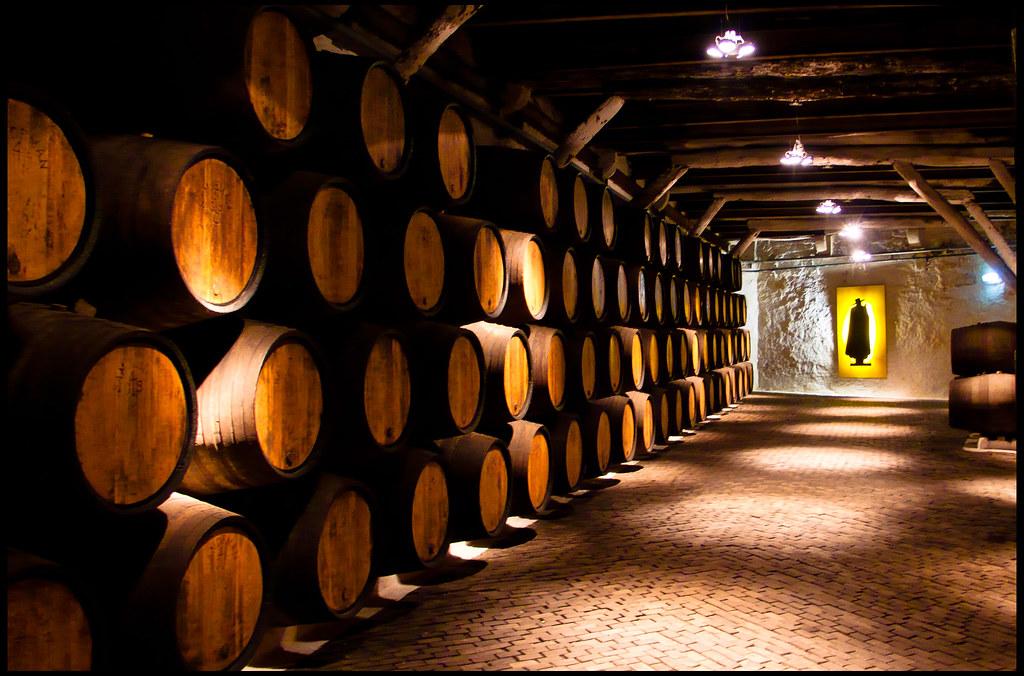 Bodega Sandeman Interior De La Bodega De Vino Oporto De