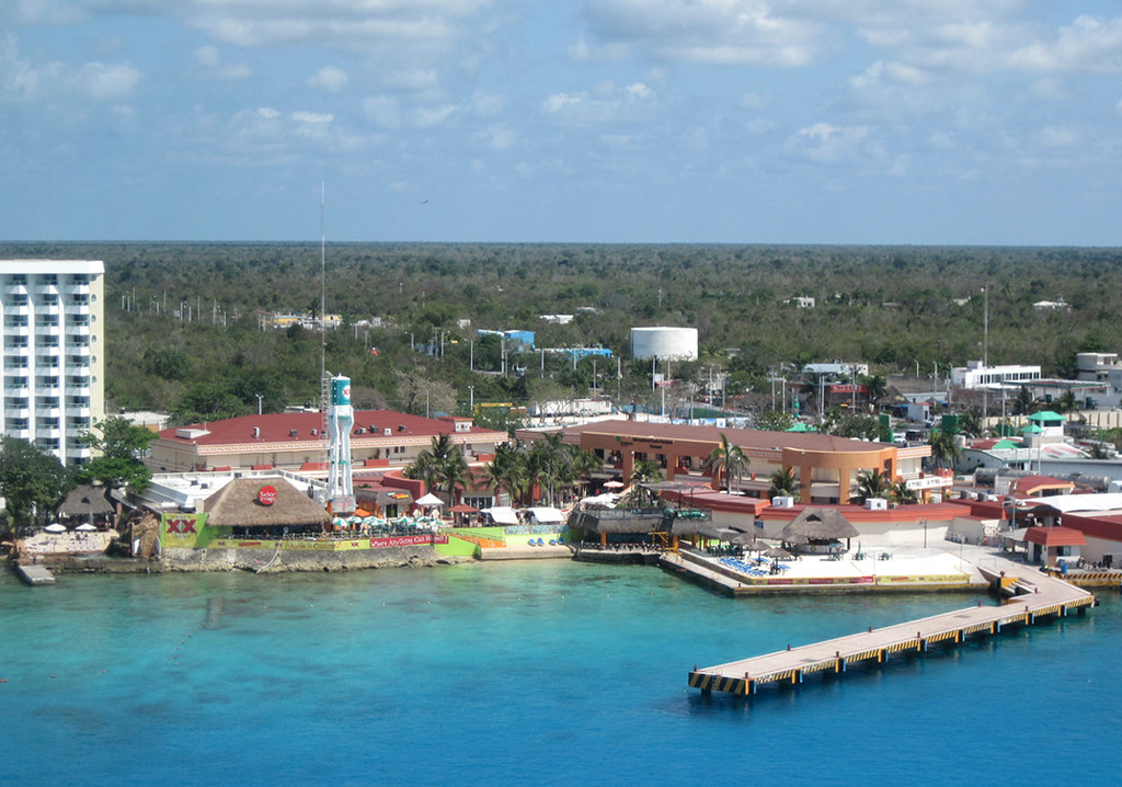 Cozumel  International Pier Area from Ship  The shopping