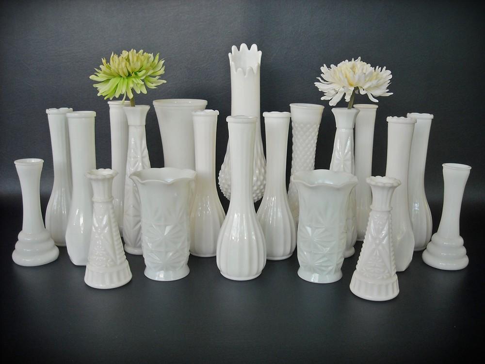 Vintage Milk Glass Vases Vase Collection A Set of 20 Cotta  Flickr