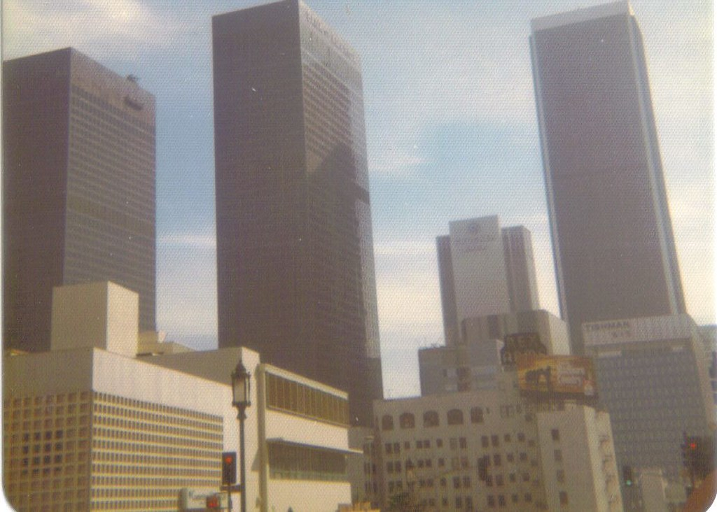 Downtown Los Angeles 1973  Looking east from Wilshire