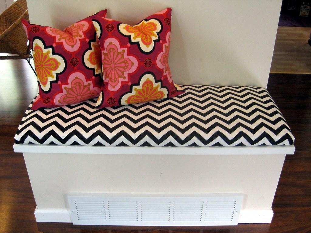 DIY Bench Cushion And Throw Pillows This Awkward Little